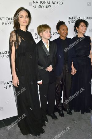 Angelina Jolie, Shiloh Jolie-Pitt, Zahara Jolie-Pitt and Loung Ung
