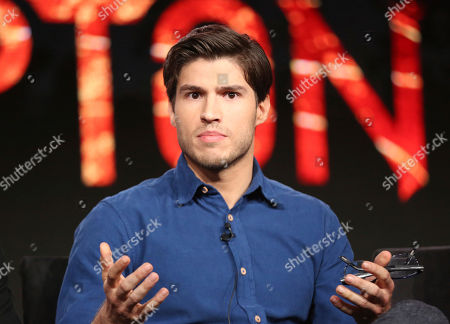 "Cameron Cuffe participates in the ""Krypton"" panel during the NBCUniversal Television Critics Association Winter Press Tour, in PAsadena, Calif"
