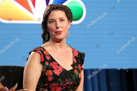 "Jean Villepique participates in the ""A.P. Bio"" panel during the NBCUniversal Television Critics Association Winter Press Tour, in Pasadena, Calif"