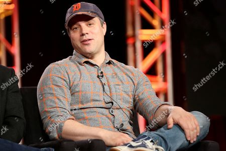 "President and Chief Creative Officer at DC Entertainment Geoff Johns participates in the ""Krypton"" panel during the NBCUniversal Television Critics Association Winter Press Tour, in PAsadena, Calif"