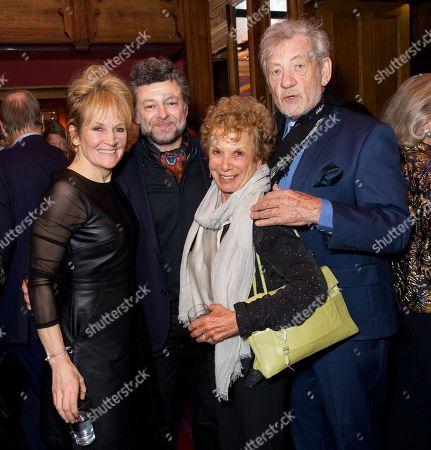 Lorraine Ashbourne, Andy Serkis, Dena Hammerstein and Sir Ian McKellen