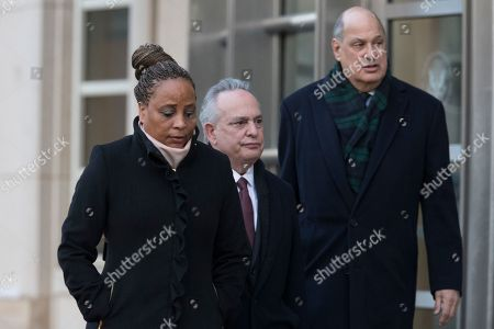 Pamela Harris, Jerry H. Goldfeder, Joel Cohen. Pamela Harris, left, leaves Brooklyn Federal court with her attorneys, Jerry H. Goldfeder, center and Joel Cohen, in New York. The New York state assemblywoman from Brooklyn was arrested Tuesday after authorities said she carried out several frauds, including claiming Superstorm Sandy forced her from her home, before spending the proceeds of the crimes on things like her mortgage, airline and cruise expenses, and Victoria's Secret