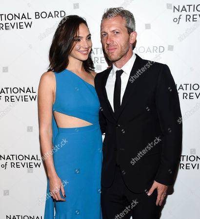 Gal Gadot, Yaron Versano. Actress Gal Gadot, left, and husband Yaron Versano attend the National Board of Review Awards Gala at Cipriani 42nd Street, in New York