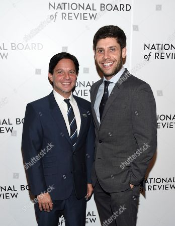 Scott Neustadter, Michael H. Weber. Scott Neustadter, left, and Michael H. Weber attend the National Board of Review Awards Gala at Cipriani 42nd Street, in New York