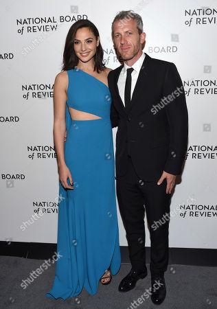 Gal Gadot, Yaron Versano. Gal Gadot, left, and Yaron Versano attend the National Board of Review Awards Gala at Cipriani 42nd Street, in New York