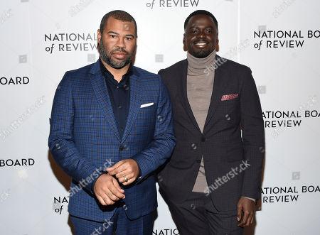 Stock Photo of Jordan Peele, Daniel Kaluuya. Jordan Peele, left, and Daniel Kaluuya attend the National Board of Review Awards Gala at Cipriani 42nd Street, in New York