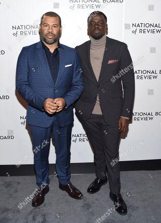 Stock Image of Jordan Peele, Daniel Kaluuya. Jordan Peele, left, and Daniel Kaluuya attend the National Board of Review Awards Gala at Cipriani 42nd Street, in New York