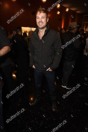 """Actor George Stults at the Warner Bros. and Merging Vets and Players screening of """"12 Strong"""" at the Arclight Hollywood."""
