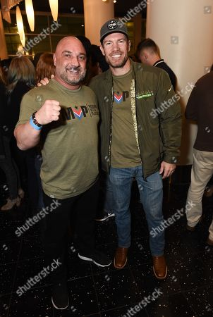 "Jay Glazer and actor Nate Boyer at the Warner Bros. and Merging Vets and Players screening of ""12 Strong"" at the Arclight Hollywood."