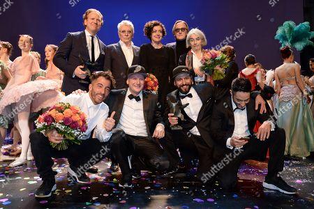 Daniel Hope, Henry Huebchen, Maria  Schrader, Maruis Mueller-Westernhagen, Donna Leon and die Flying Steps (Preistraeger  des B.Z.-Kulturpreis) .