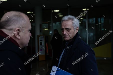German politician of the Christian Social Union in Bavaria (CSU)  Peter Ramsauer talks to a man as he arrives at the exploratory talks at the Christian Democrats' (CDU) party headquarters, the 'Konrad-Adenauer-Haus', in Berlin, Germany, 10 January 2018. The leaders of the Christian Democratic Union (CDU), their Bavarian sister party Christian Social Union (CSU) and the Social Democratic Party (SPD) hold exploratory talks at the parties' respective headquarters through 11 January 2018.