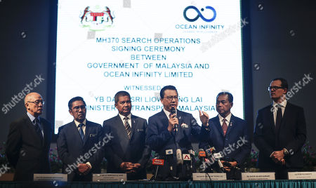 Editorial photo of Malaysia signs contract with US firm to continue MH370 search, Putrajaya - 10 Jan 2018