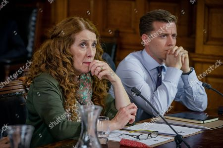 (Ep 4) - Phyllis Logan as Linda Hutchinson and Philip Cumbus as Andrew Thackery