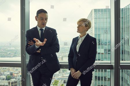 (Ep 3) - Enzo Cilenti as Detective Townsend and Claire Skinner as ACC Viven Barnes