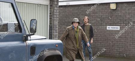 Brenda Blethyn as DCI Vera Stanhope and Ben Crompton as Jason Glenn.