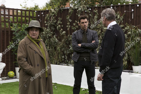 Stock Picture of Brenda Blethyn as DCI Vera Stanhope, Kenny Doughty as DS Aiden Healy and Vincent Regan as Michael Glenn.