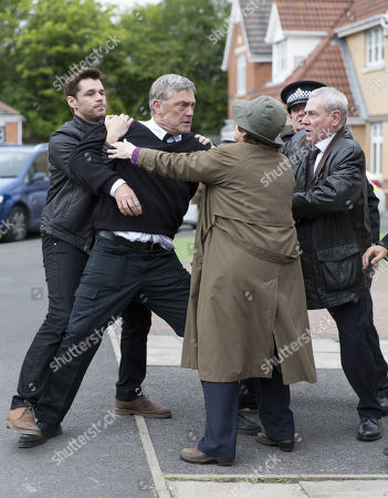 Stock Image of Brenda Blethyn as DCI Vera Stanhope, Kenny Doughty as DS Aiden Healy, Jon Morrison as Dc Kenny Lockhart and Vincent Regan as Michael Glenn.