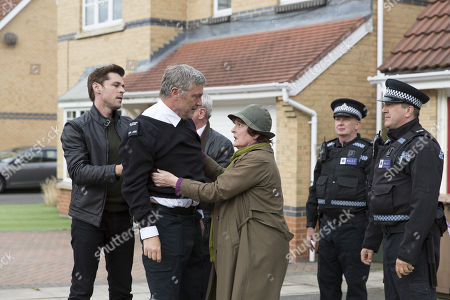 Brenda Blethyn as DCI Vera Stanhope, Kenny Doughty as DS Aiden Healy and Vincent Regan as Michael Glenn.