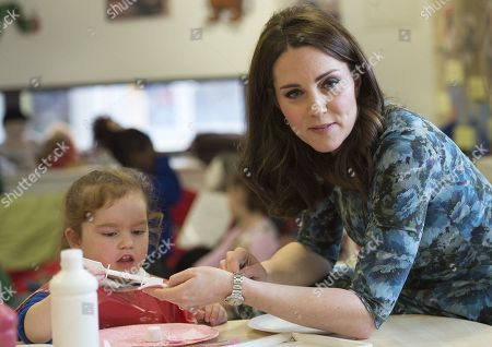 Stock Picture of Catherine Duchess of Cambridge with Ava Leigh-Morris (3)