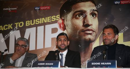 Editorial picture of Amir Khan  during press conference     ,   The Dorchester Hotel,London   ,Uk - 10  Jan 2018