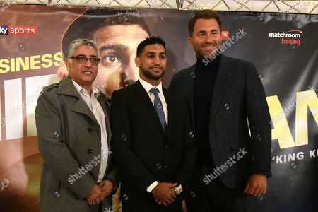 Editorial photo of Matchroom Boxing Press Conference, Amir Khan Signs Three Year Deal With Matchroom, Boxing, Dorchester Hotel, London, United Kingdom - 10 Jan 2018