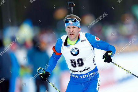 Lowell Bailey of the U.S. competes during the men's 20 km individual competition at the biathlon World Cup in Ruhpolding, Germany