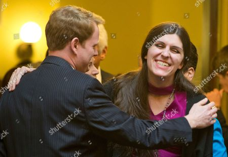 Danica Roem, Chris Hurst. Del. Danica Roem, D-Prince William, right, the first transgender Delegate, shares a laugh with Del. Chris Hurst, D-Radford, prior to opening ceremonies of the 2018 session of the Virginia House of Delegates at the Capitol in Richmond, Va
