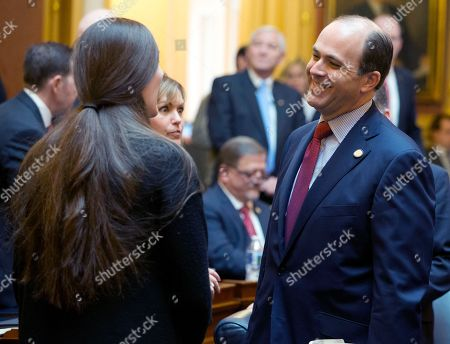 Danica Roem, David Yancey. Del. David Yancey, R-Newport News, right, talks with Danica Rome, D-Prince Williams, prior to opening ceremonies of the 2018 session of the Virginia House of Delegates at the Capitol in Richmond, Va