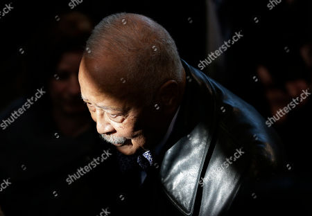 Former New York City Mayor David Dinkins participates in a plaque dedication ceremony at the Central Park police precinct in New York