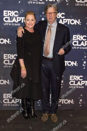 Stock Image of Lili Fini Zanuck, Eric Clapton