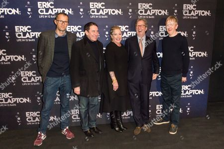 Stock Picture of John Battsek, Jools Holland, Lili Fini Zanuck, Eric Clapton, Chris King
