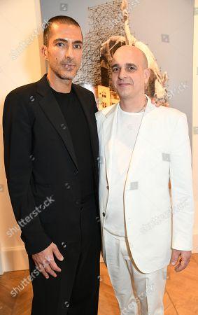 Stock Image of Wissam Al Mana and Steve Lazarides
