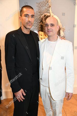 Wissam Al Mana and Steve Lazarides