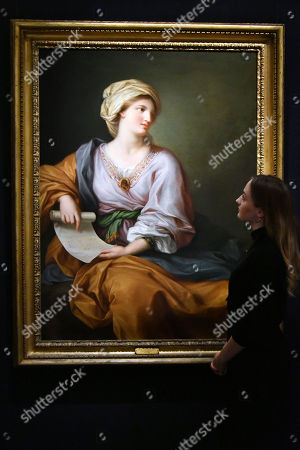 Portrait of Emma Hamilton as a Sibyl.  Est. 150,000-2000,000.