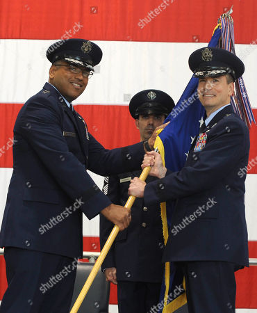 Paul Tibbets IV. In this photo provided by the U.S. Air Force, Air Force Maj. Gen. Richard Clark, Eighth Air Force commander, hands over the wing guidon to Brig. Gen. Paul W. Tibbets IV, 509th Bomb Wing commander, during a change of command ceremony at Whiteman Air Force Base, in Mo., . Tibbets, the grandson and namesake of the man who piloted the B-29 that dropped the atomic bomb on Hiroshima, Japan, during World War II took over leadership Friday of the United States' aging fleet of nuclear-capable B-2 stealth bombers