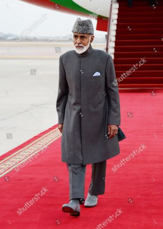 Made available March 23, 2015, by Oman News Agency, Sultan Qaboos bin Said of Oman arrives in Muscat, Oman. A statement from Oman's royal court, carried by the country's state-run Oman News Agency, says the Sultan returned to the country on after reportedly undergoing routine medical checkups in Germany. The 75-year-old, Western-backed sultan is the Middle East's longest-reigning monarch, who came to power in 1970 in a bloodless coup