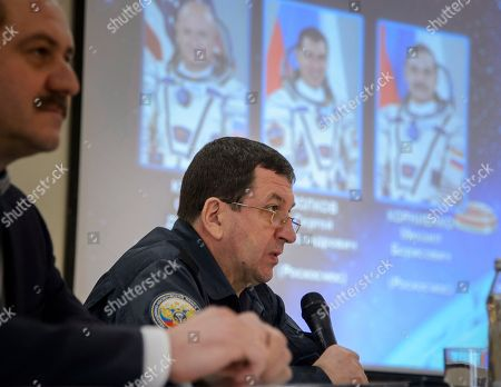 Members of the Russian Search and Recovery Forces conduct a briefing, in Karaganda, Kazakhstan on their readiness for the landing of Expedition 46 Commander Scott Kelly of NASA and Russian cosmonauts Mikhail Kornienko and Sergey Volkov of Roscosmos who are scheduled to land March 2 in their Soyuz TMA-18M spacecraft near Zhezkazgan, Kazakhstan. Kelly and Kornienko are completing an International Space Station record year-long mission. Volkov is returning after six months on the station