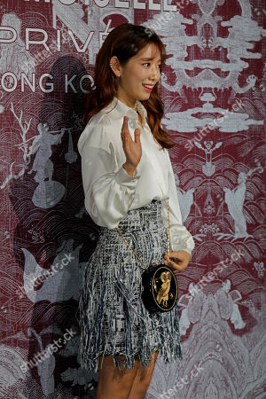South Korean actress Park Shin-hye poses during a promotional event for Chanel in Hong Kong
