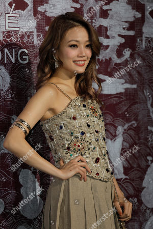 Hong Kong singer Joey Yung poses during a promotional event for Chanel in Hong Kong