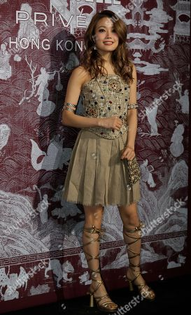 Stock Picture of Hong Kong singer Joey Yung poses during a promotional event for Chanel in Hong Kong
