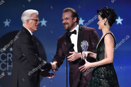 Ted Danson, David Harbour and Jaimie Alexander