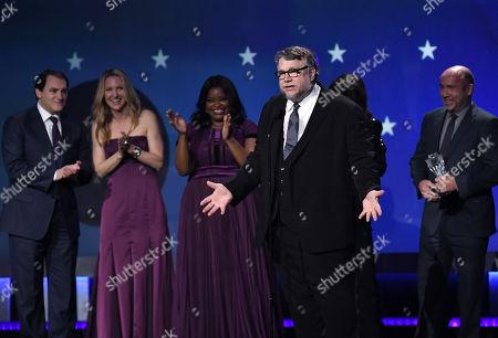 Michael Stuhlbarg, Octavia Spencer, Guillermo Del Toro and J. Miles Dale