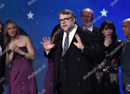 Richard Jenkins, Guillermo Del Toro and Sally Hawkins
