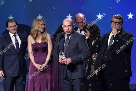 Michael Stuhlbarg, J. Miles Dale, Richard Jenkins, Sally Hawkins and Guillermo Del Toro