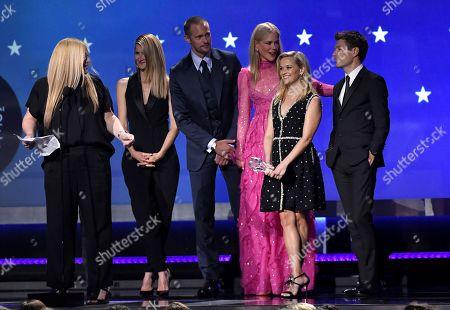Bruna Papandrea, Laura Dern, Alexander Skarsgard, Nicole Kidman, Reese Witherspoon and Per Saari