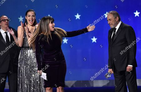 Richard Suckle, Gal Gadot, Patty Jenkins and Charles Roven