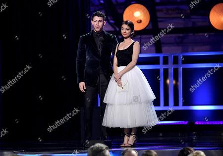 Stock Image of Nick Jonas and Sarah Hyland