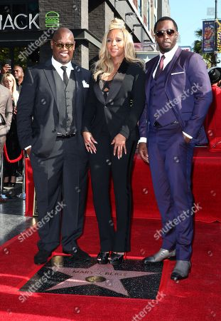 Mary J. Blige, Sean Combs and Andre Harrell