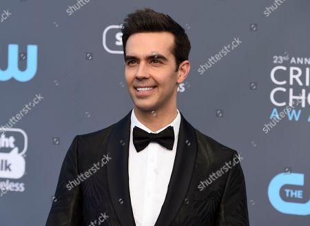 Michael Carbonaro arrives at the 23rd annual Critics' Choice Awards at the Barker Hangar, in Santa Monica, Calif
