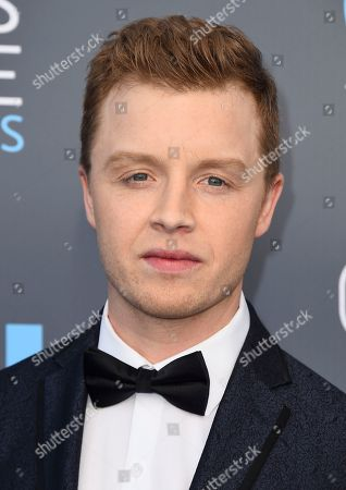 Noel Fisher arrives at the 23rd annual Critics' Choice Awards at the Barker Hangar, in Santa Monica, Calif